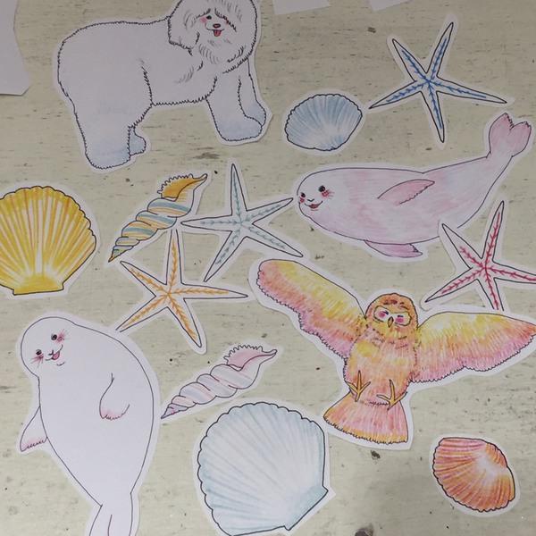 ユッカさんの描いたいろいろな動物たちの絵
